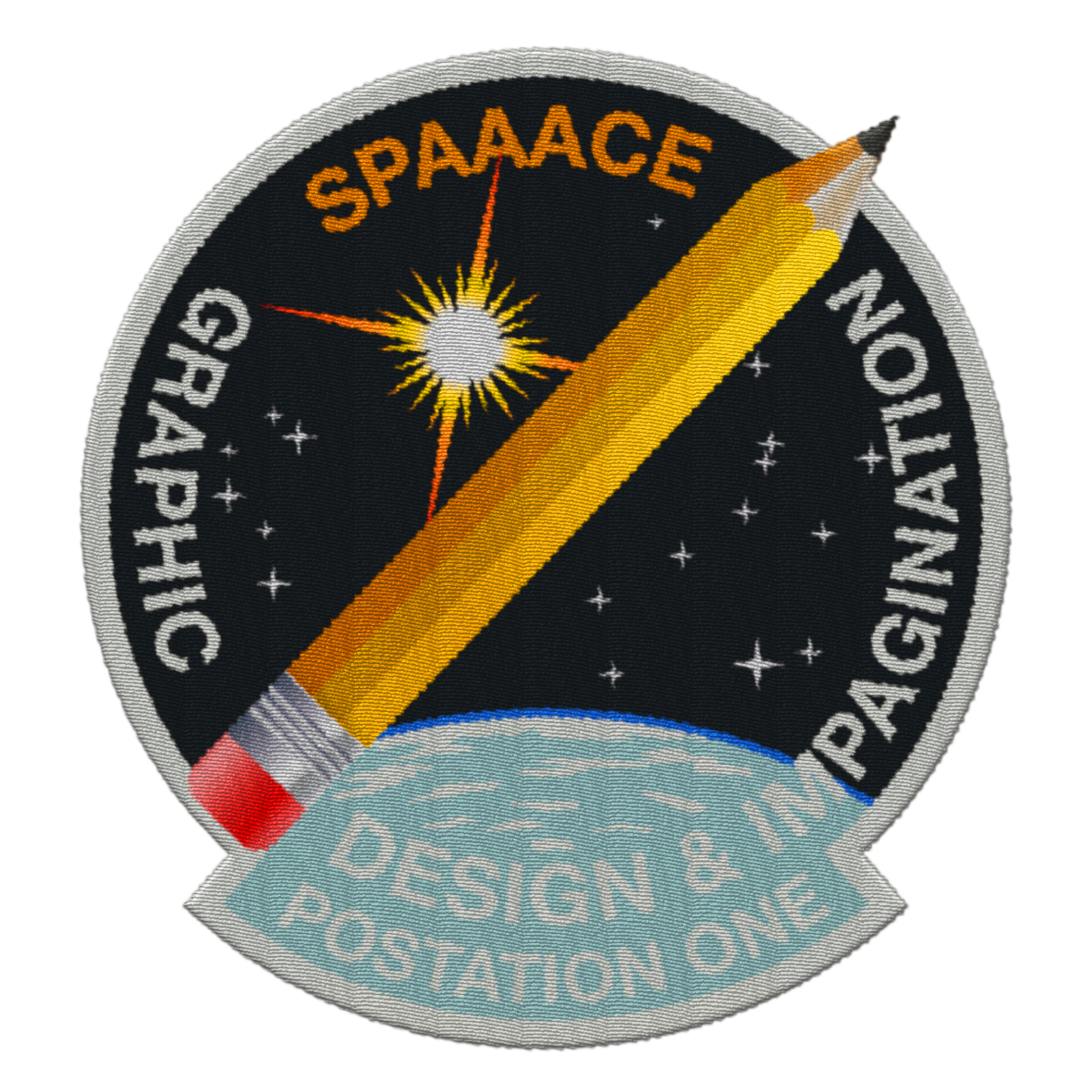 Spaaace - patch graphic design